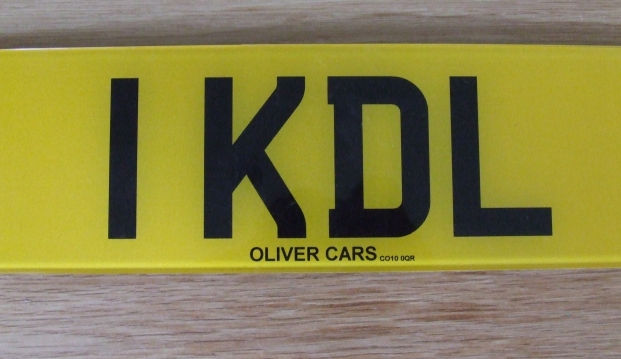 1 KDL Number Plate on Retention
